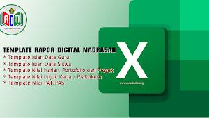 [Excel] Template Excel - Rapot Digital Madrasah (RDM) Tahun 2021