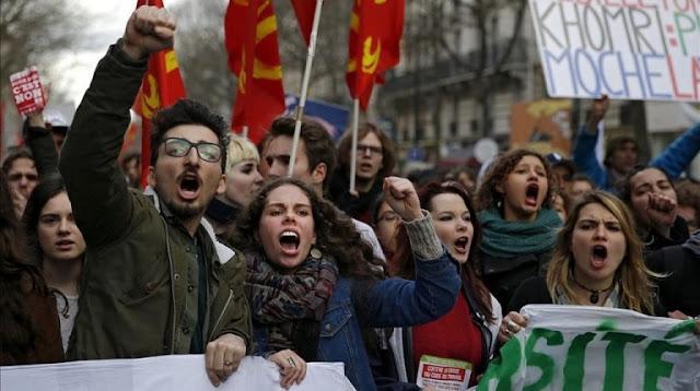 Huelgas y poder en Francia