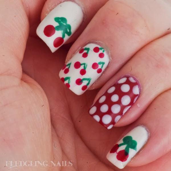 fledgling nails notd cheery cherry
