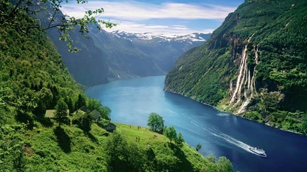 Patrimônios da UNESCO  na Noruega - Fiorde de Geiranger