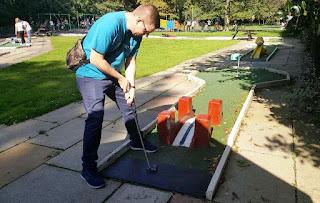 Crazy Golf course at Southport's Botanic Gardens