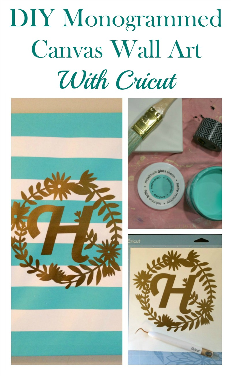 Real Girl's Realm: DIY Monogrammed Canvas Wall Art