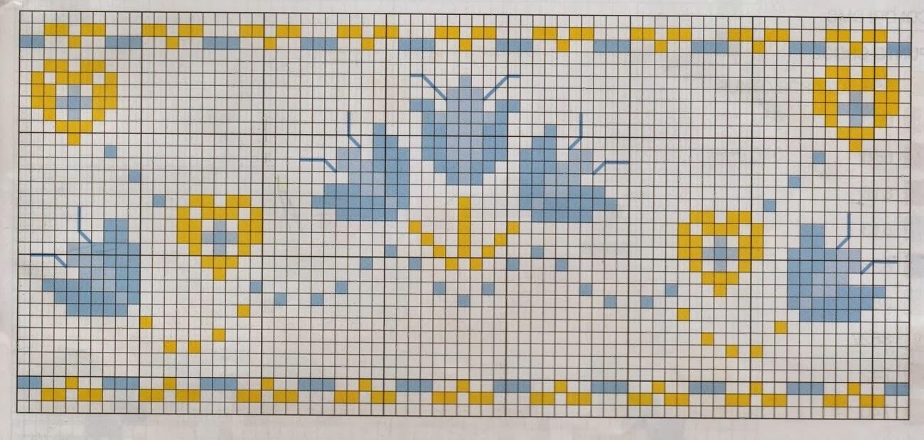 Ricami e schemi a punto croce gratuiti tanti schemi punto for Schemi lenzuolini punto croce