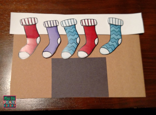 photo of student craft with stockings