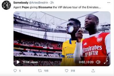 'Done deal!' - Arsenal fans sent into transfer frenzy after what Yves Bissouma did on Twitter