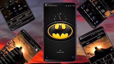 Batman Theme for Samsung Android Oreo & Nougat
