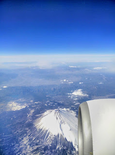 View Of Mount Fuji From Airplane