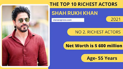 2 of 10 Richest actors in the world