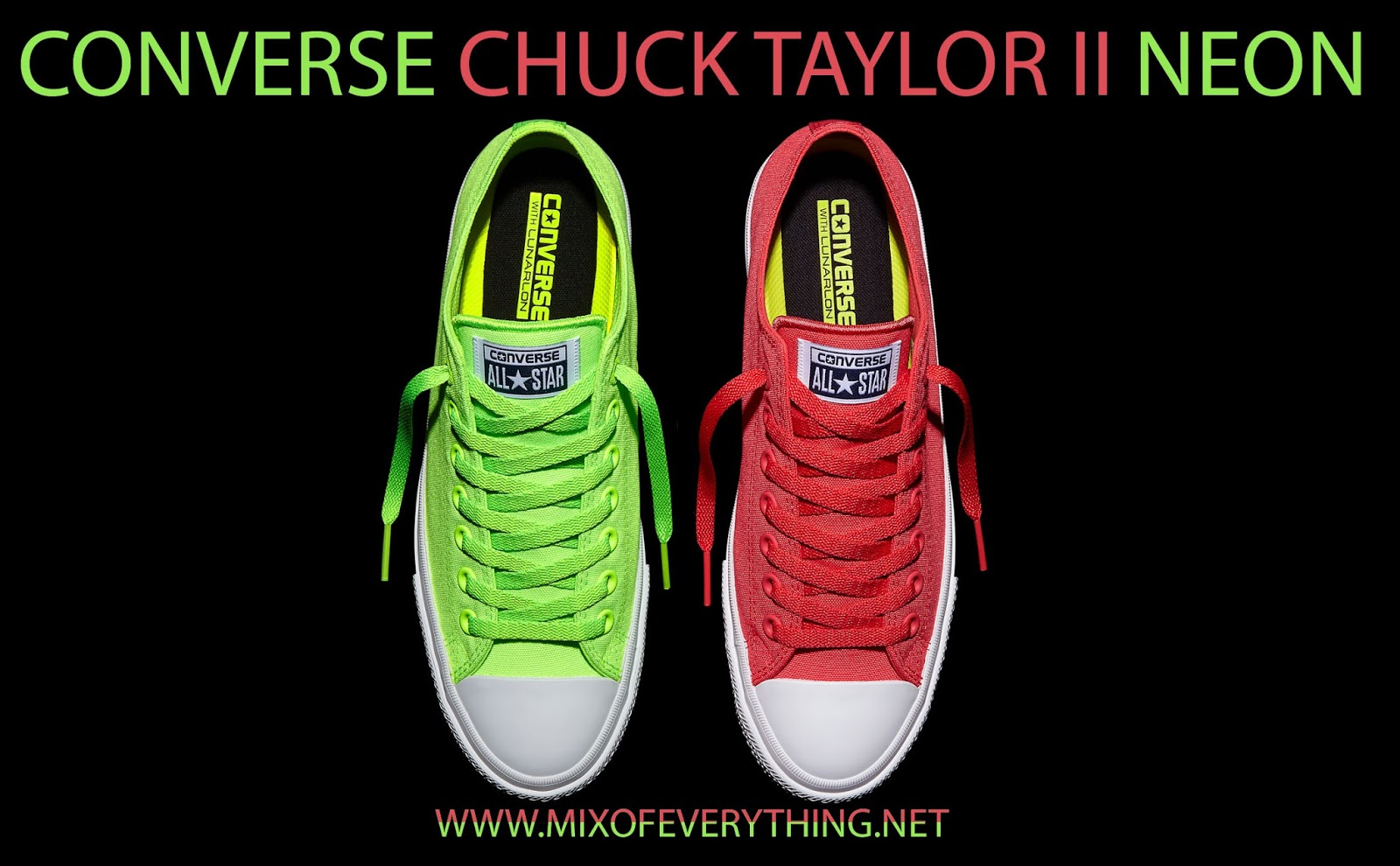 d171af925c1 Converse introduces new bold and bright colorways this season with the Converse  Chuck Taylor All Star II Neon. Bright colors