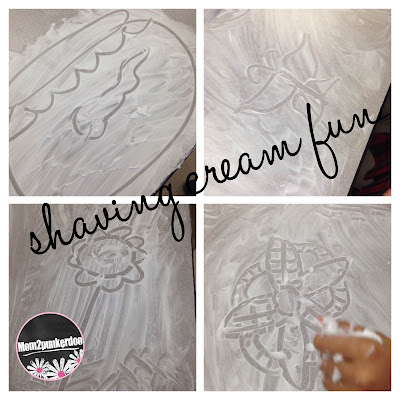 The most fun way to clean classroom desks ever! Dollar store shaving cream! Lots of fun and leaves the desks clean and the room smelling great too!