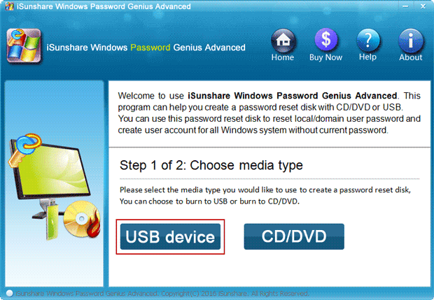 run Microsoft account password recovery program