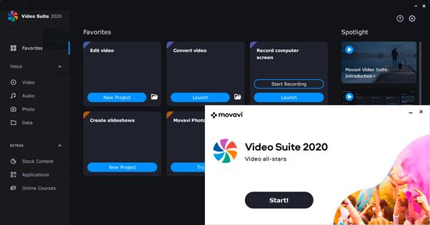 Movavi Video Suite 2020 Main Windows