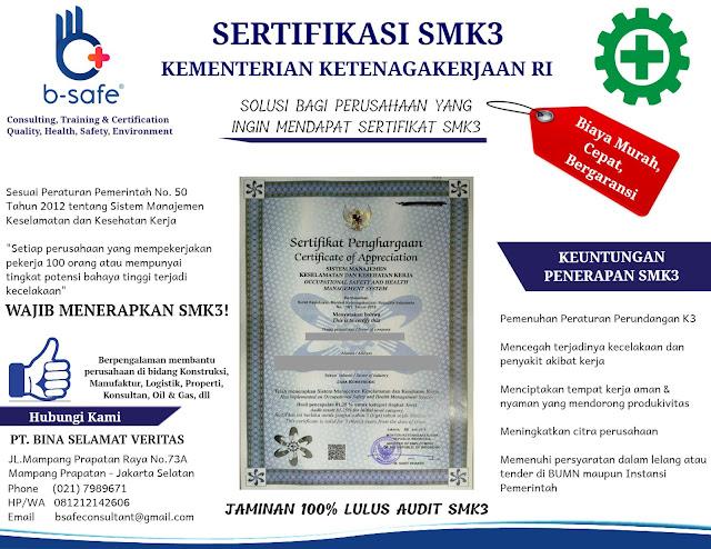 JASA SERTIFIKASI SMK3