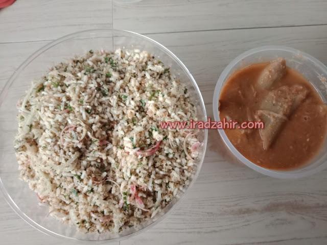 Resepi Nasi Ulam Sayur Keladi (Utara)