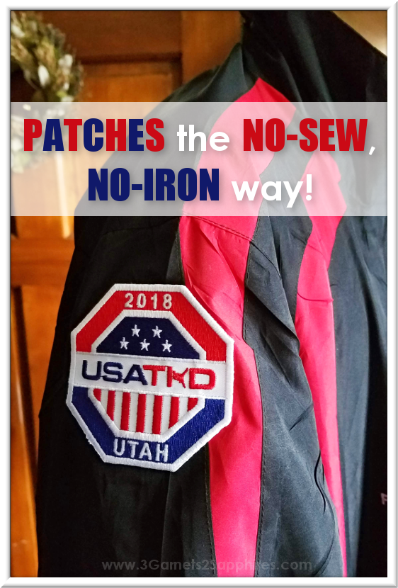 Attach iron-on patches with no sewing and no ironing | 3 Garnets & 2 Sapphires