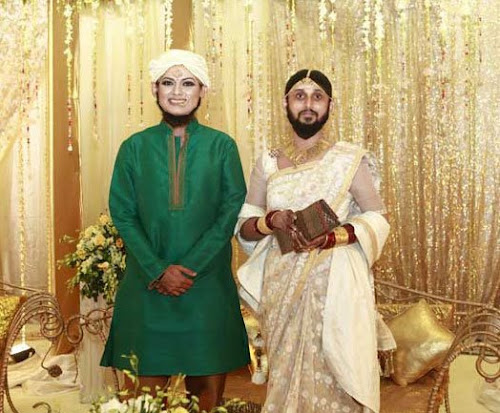 model Tisha and Mostofa Faruki funny photo