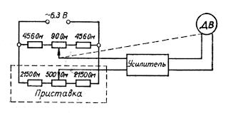 Принципиальная схема работы дистанционной приставки указателя уровня с мостом