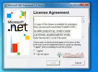 Microsoft Dot NET Framework V1.1 Download- Screen 2