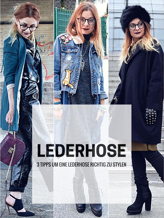 Wie style ich eine Lederhose, 3 Tipps, Mode für Frauen Ü40