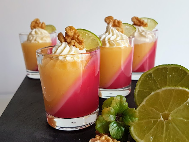 lime-curd-pots, vasitos-de-lime-curd-fresa-y-nueces