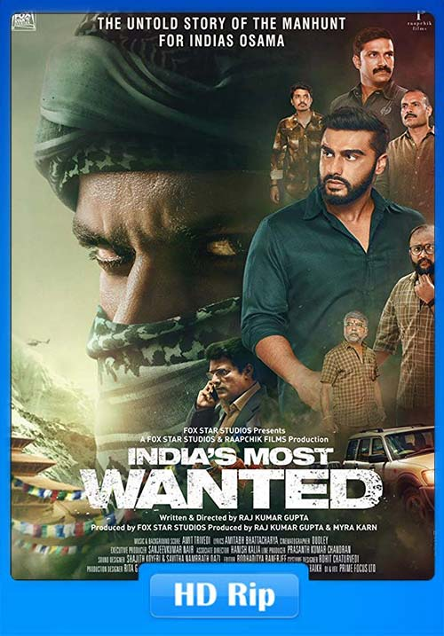 India's Most Wanted 2019 720p WEB-DL ESub x264 | 480p 300MB | 100MB HEVC Poster