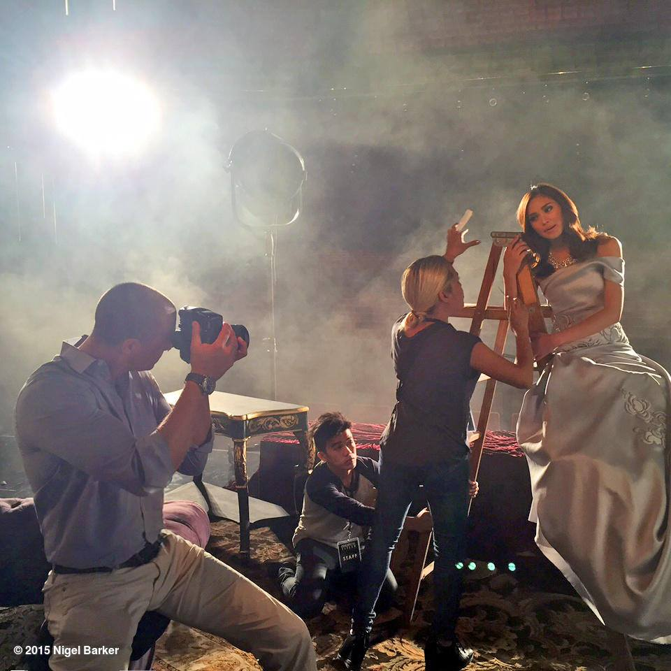Nigel Barker photographs Sarah Geronimo for Philippine Tatler