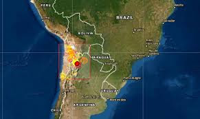 Epicentro SISMO DE 6,4 GRADOS Salta 1 de Diciembre 2020