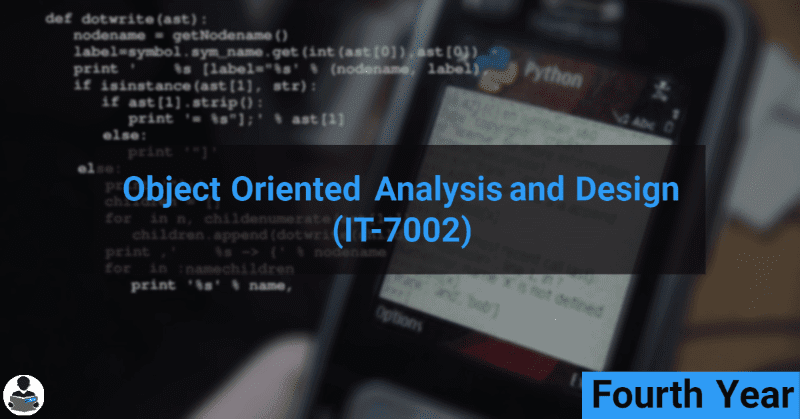 Object Oriented Analysis and Design (IT-7002) RGPV notes CBGS Bachelor of engineering
