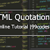 What is HTML Blockquote   99codes