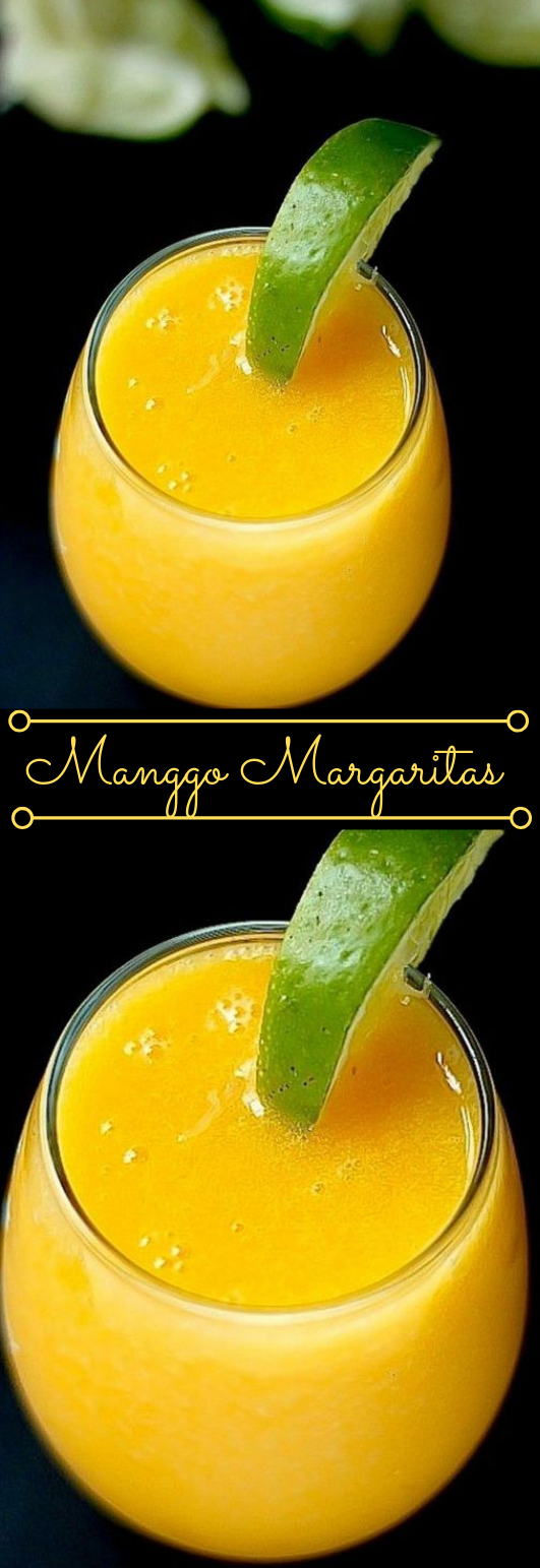The Best Fresh Mango Margaritas #drink #mango #margaritas #cocktail #fresh