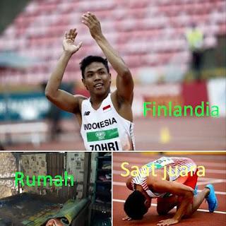 Lagi Viral Rumah Sang Juara Dunia Lari 100 M Muhammad Zohri
