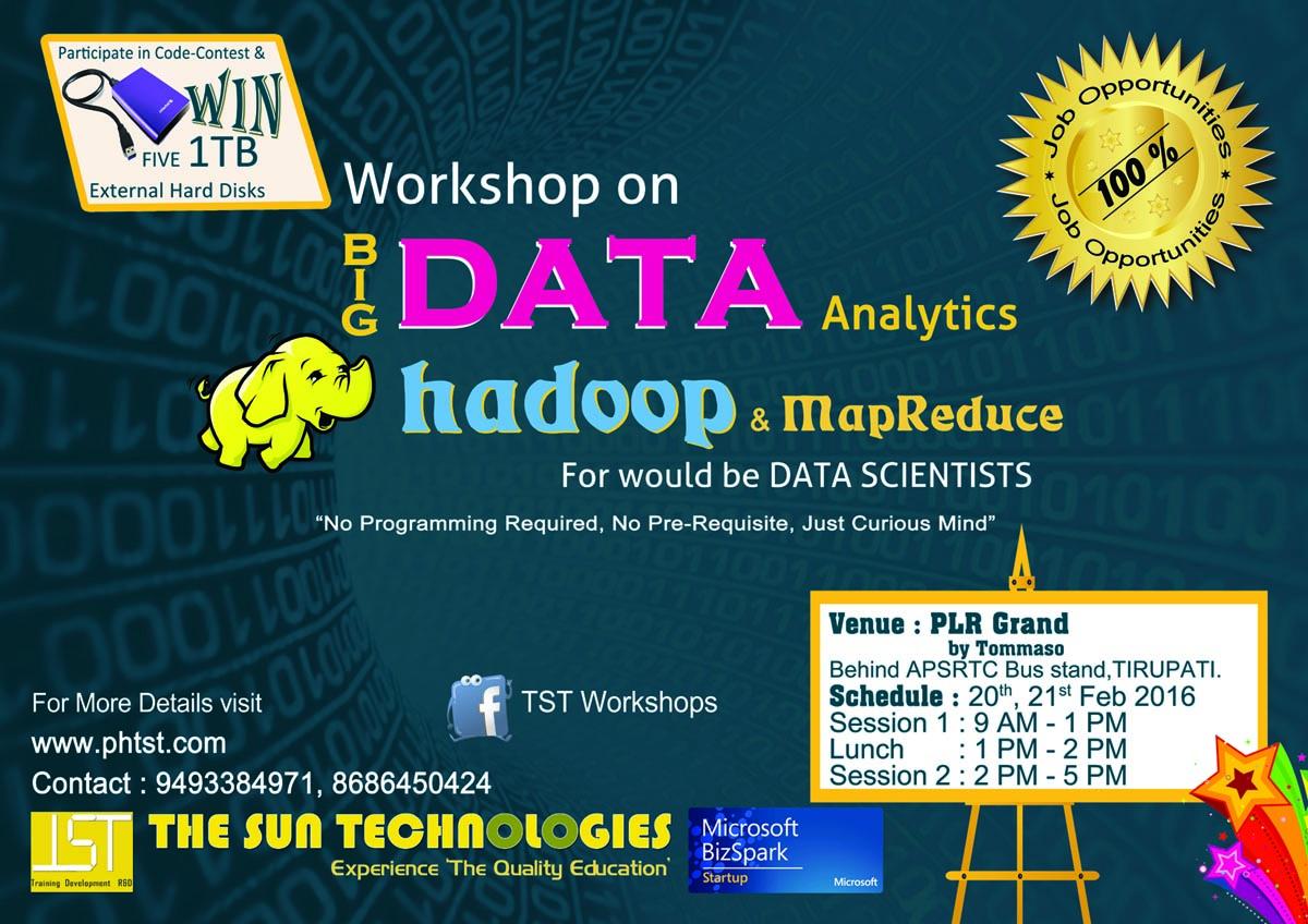 Workshop on BIgData Analytic, Hadoop and MapReduce