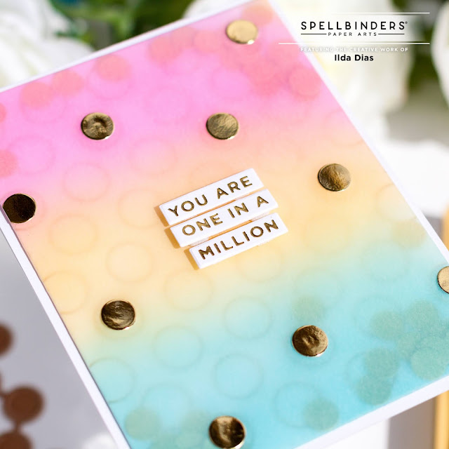 Spot on Background & Sentiments,One In A Million, Birthday Vellum Shaker,Spellbinders, GOM-MAY21,Card Making, Stamping, Die Cutting, handmade card, ilovedoingallthingscrafty, Stamps, how to,