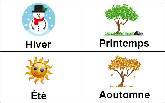 الفصول الاربعة بالفرنسية