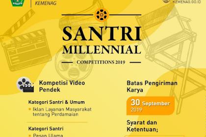 Hadiah 150 Juta Santri Millennial Competitions 2019