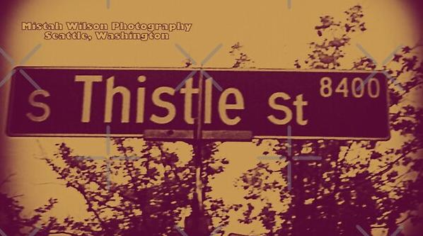 Thistle Street, Seattle, Washington by Mistah Wilson