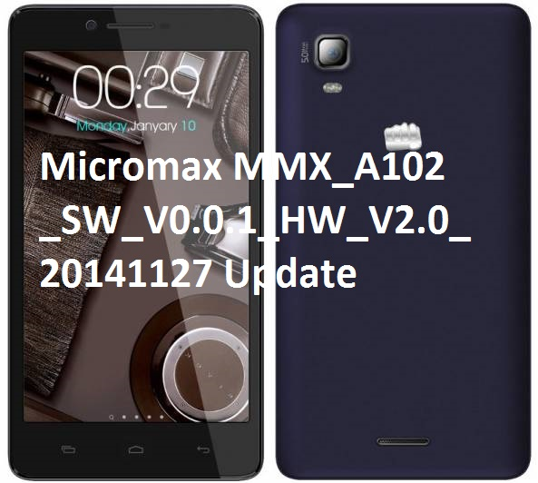 Mobile Point: Micromax A102 Firmware A102_SW_V0 0 1_HW_V2