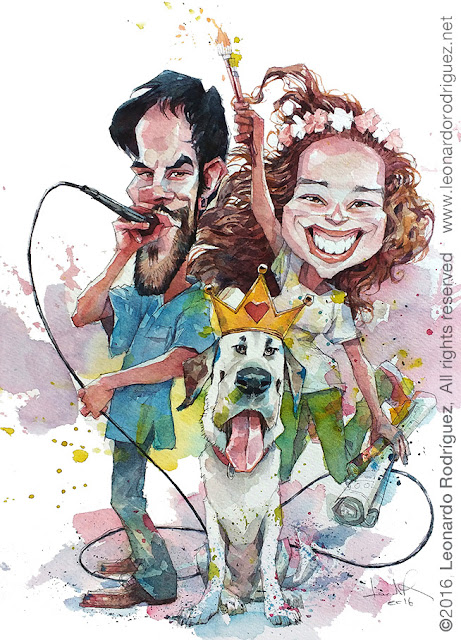 caricaturist in spain