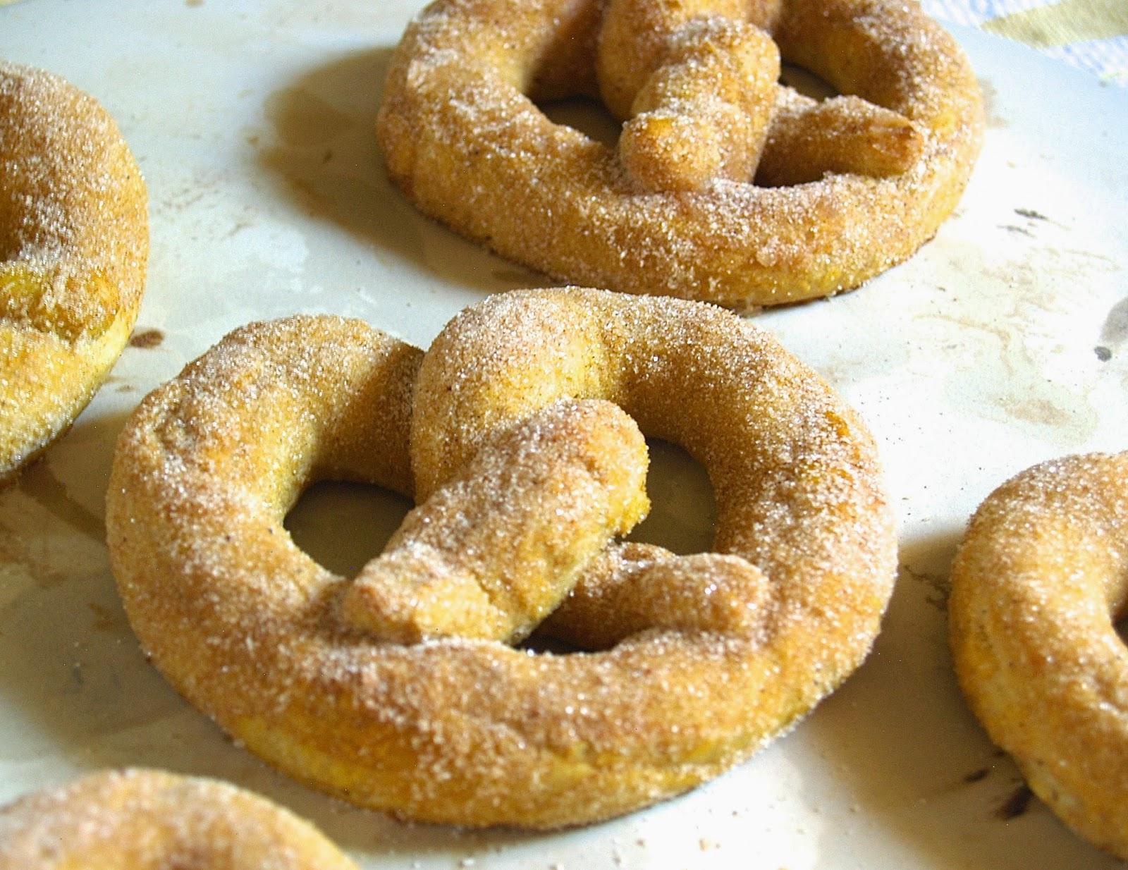 Hungry Hungry Highness: Cinnamon Sugar Pumpkin Soft Pretzels