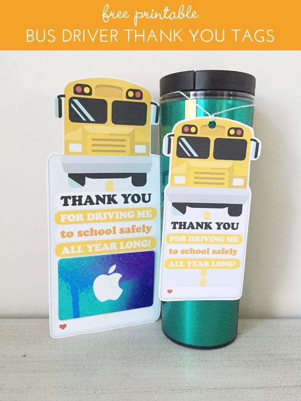 photograph regarding Bus Driver Thank You Card Printable named sarah m layout: freebies: bus driver thank your self reward tags.