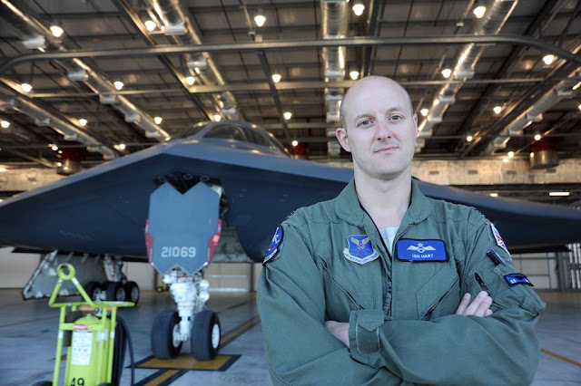 A FORMER RAF TORNADO PILOT FLIES USAF B-2 SPIRIT