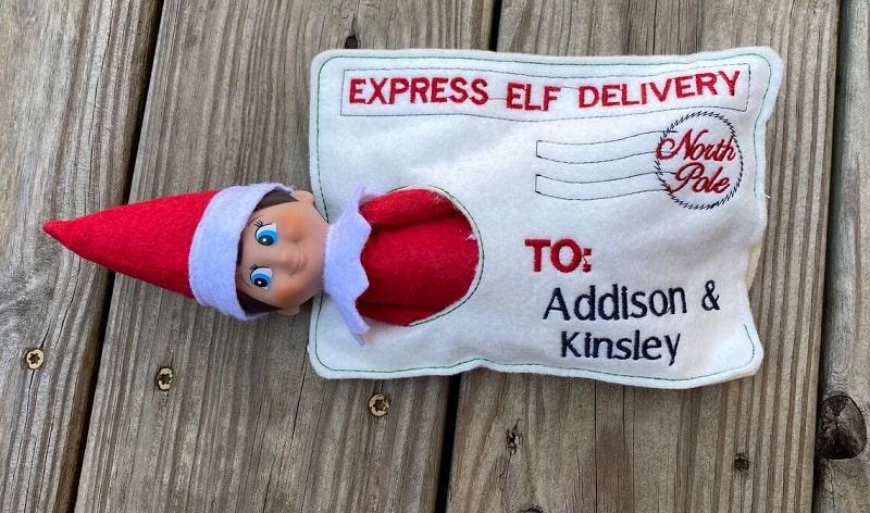 special elf express arrival envelope