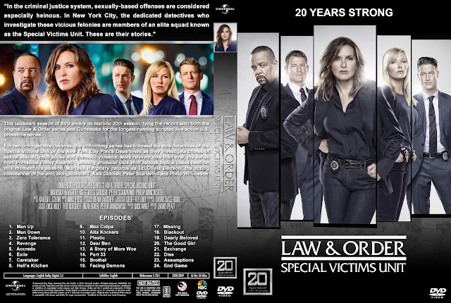 Law & Order: Special Victims Unit - Season 20 DVD Cover