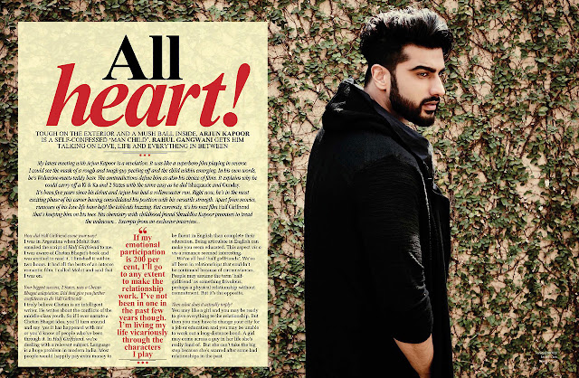 Arjun Kapoor Filmfare May 2017