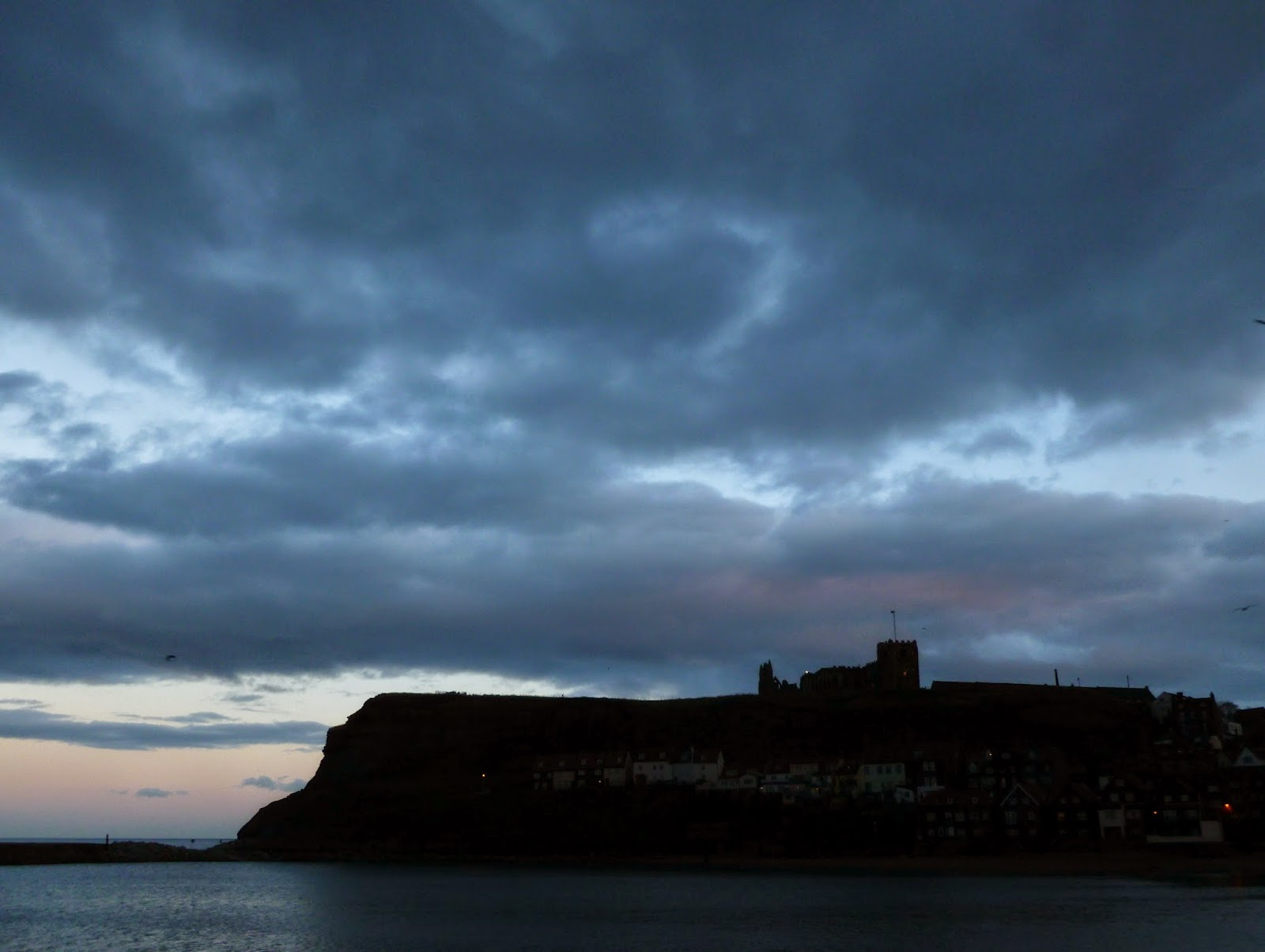 Whitby Abbey at dusk