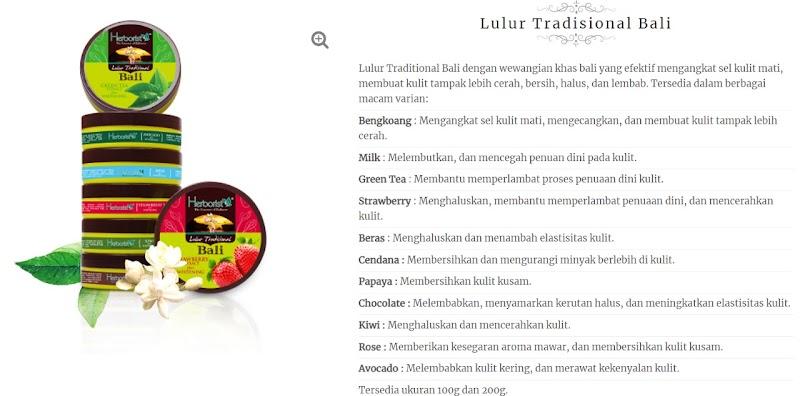 Review : Herborist Lulur Tradisional Bali