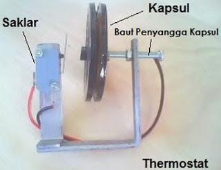memasang termostat dengan kabel dan lampu saklar