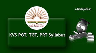KVS PGT TGT Syllabus