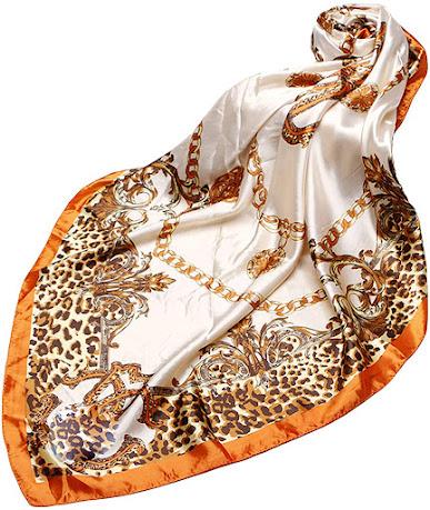Square Designer Silk Satin Scarves