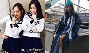 Sao Hàn 24/3: Dara diện quần xẻ tan nát, Hye Ri xì tin với đồng phục thủy thủ